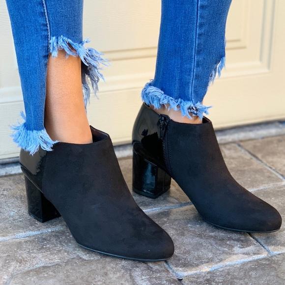 15180721dfc Evie Fabric Contrast Block Heel Boot NWT